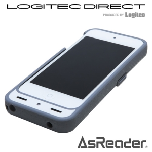 AsReader2 Barcode 2D White【ASX-520R-W】 iPhone5、iPhone5s、第5世代 iPod touchに装着して利用できるケース型2次元バーコードリーダー
