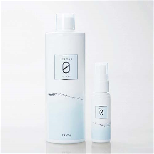 エクリアゼロ 弱酸性次亜塩素酸水 原液500ml 携帯用ミニスプレーボトル付【HCE-DLX01】