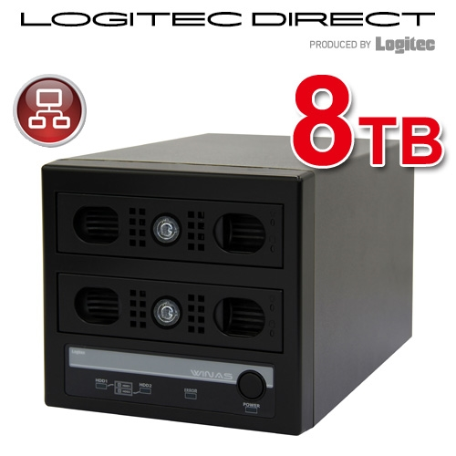 WSS 2012 R2 workgroup Edition 搭載 MiniBOX型アクセスログ強化NAS【LSV-MS8T/2VKWLWL】【受注生産品(納期目安2~3週間)】